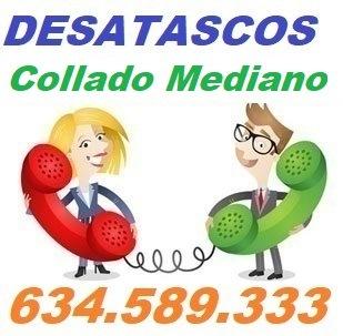 Telefono de la empresa desatascos Collado Mediano